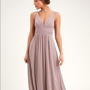 Taupe Bridesmaids Dress
